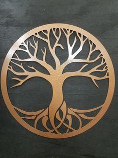 Circle of Life Tree Steel Sign Metal Art   Etsy