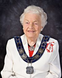 """Hazel McCallion, Mayor of Mississauga. For a woman to be successful in politics, """"Act like a lady, think like a man, and work like a dog. """"  Retiring as mayor this year at age 93 so she can do other things.,"""