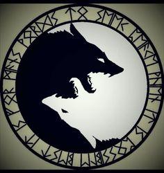 New tattoo designs wolf yin yang Ideas Fenrir Tattoo, Norse Tattoo, Viking Tattoos, Celtic Wolf Tattoo, Berserker Tattoo, Gaelic Tattoo, Valkyrie Tattoo, Thai Tattoo, Maori Tattoos