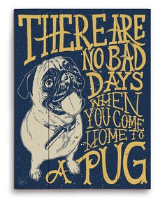 Look what I found on #zulily! 'No Bad Days' Wall Art by Image Canvas #zulilyfinds