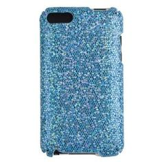 Sky Blue Sparkles Case for Apple iPod Touch 2G / 3G (2nd & 3rd Generation)