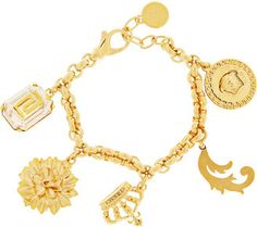 Versace Gold-plated charm bracelet