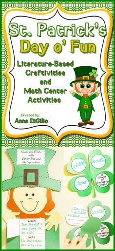 Get ready to liven up St. Patrick's Day in your classroom with these adorable Literacy-based Craftivities based on the book Clever Tom and the Leprechaun and math centers that are all Common Core Aligned for Grades 1-2 $
