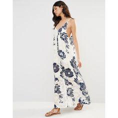 Flynn Skye Ella Maxi Dress (£110) ❤ liked on Polyvore featuring dresses, multi, maxi length dresses, tall dresses, braid dress, scoop neckline dress and scoop neck maxi dress