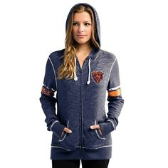 Women s Majestic Chicago Bears Athletic Tradition Hoodie 1c22b99c8