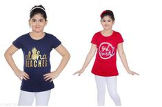 Tshirts Elegant Cotton Kid's Girl T-Shirts Fabric: Cotton Sleeves: Short Sleeves Are Included Sies: Age Group (8 - 9 Years) - 30 in Age Group (9 - 10 Years) - 32 in Age Group (10 - 11 Years) - 32 in Age Group (11 - 12 Years) - 34 in Age Group (12 - 13 Years) - 34 in Age Group (13 - 14 Years) - 36 in Type: Stitched Description: It Has 2 Pieces Of Kid's Girl T-Shirt Country of Origin: India Sizes Available: 8-9 Years, 9-10 Years, 10-11 Years, 11-12 Years, 12-13 Years, 13-14 Years   Catalog Rating: ★4.3 (2657)  Catalog Name: Latest Elegant Cotton Kid's Girl T-Shirts Vol 2 CatalogID_556682 C62-SC1143 Code: 113-3949172-456