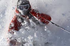 Skier Julian Carr at Alta, UT