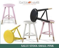 Buy Durable Sally #Stool Small Pink Online!!  To know more about this Stool , visit at: https://www.curtisandhayes.com/sally-stool-small-pink.html