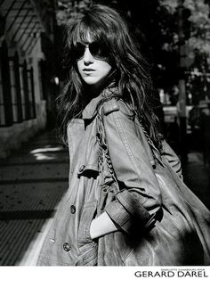 Charlotte Gainsbourg for Gérard Darel, photo by Sylvie Lancrenon.