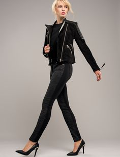 Trendy black jeans with animal print from our Robell Autumn/Winter 2015 collection