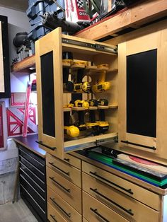 Full size of garage design:garage design organization tooling shop storage solutions organizers ideas for Garage Tool Storage, Workshop Storage, Home Workshop, Garage Tools, Garage Shop, Garage Organization, Organization Ideas, Storage Ideas, Workshop Layout