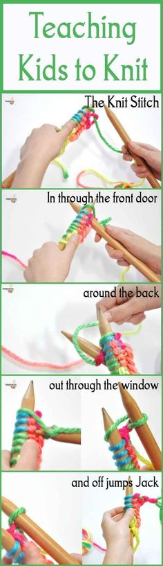 For teaching your kids how to knit with you.