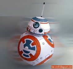 PAPERMAU: Star Wars - BB-8 Droid Paper Model In 1/6 Scale - by Tos Craft