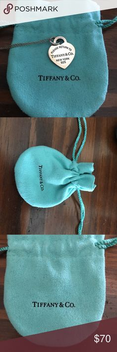 """Genuine Tiffany necklace Genuine Tiffany necklace reads """"Please return to Tiffany & Co."""" Comes with Genuine Tiffany bag. All is authentic worn only a few times. Tiffany & Co. Jewelry Necklaces"""