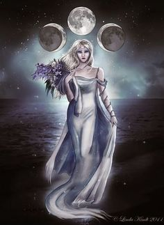 Wiccan Moonsong: Honoring the Triple Goddess Within You As we walk our path, it… Wicca Kunst, Symbole Viking, Triple Moon Goddess, Luna Goddess, Greek Goddess Art, Goddess Pagan, Wiccan Art, Gypsy Moon, Greek Gods
