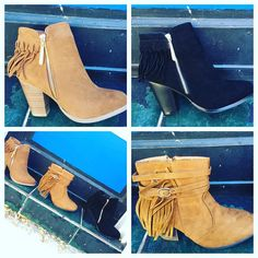 These are just a few of the booties in our collection! $36.95  #madisonsbluebrick #downtownhotsprings #shoplocal #fallfashion #booties #fringe