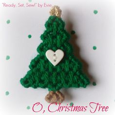 """✫✫ """"How lovely are thy branches."""" (That cute little heart isn't bad, either.) -- """"Ready, Set, Sew!"""" by Evie ✫✫"""