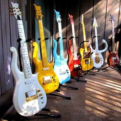 All of Prince's really cool guitars! Him and Hendrix the two greatest guitarists of all time!