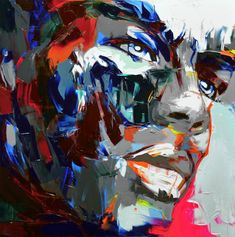 Palette knife painting portrait Palette knife Face Oil painting Impasto figure on canvas Hand painted Francoise Nielly 26 Andy Warhol Pop Art, Art And Illustration, Art Visage, Palette Knife Painting, Expressive Art, Art Abstrait, Oil Painting Abstract, Artwork Design, Face Art