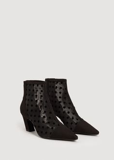 Fabric plumeti ankle boots