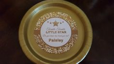 Gold twinkle twinkle little star plates and cups