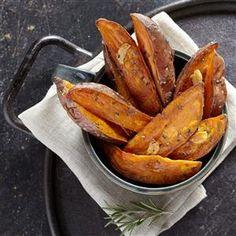 Roasted Garlic & Rosemary Sweet Potato Wedges