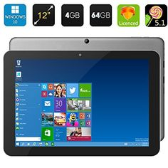 Invtepy® 2016 100% Original 12 Inch Chuwi HI12 Windows 10 Tablet PC Quad Core 4GB RAM 64GB ROM Intel Trail-T3 Z8300 HDMI 2160*1440 5.0MP (Gold). CPU:Intel Cherry Trail-T3 Z8300;GPU:Intel 8th Generation Intel graphincs. RAM:4GB;Memory: 64GB. Extend Card:Support Micro SD Card up to max 64GB. Camera:Front camera:2.0MPRear camera:5.0MP. Screen size:12 Inch G+G Capacitive Touch Screen (3:2).