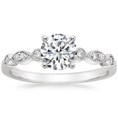 18K White Gold Tiara Diamond Ring from Brilliant Earth~ LOVE THIS RING. I must notify my boyfriend :)