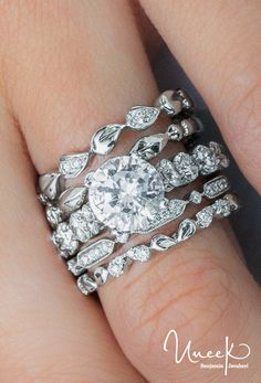 8ed531a93a0 Uneek Round Diamond Engagement Ring with