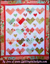 Charming Hearts Quilt | FaveQuilts.com