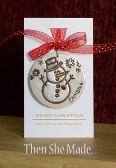 Hey, I found this really awesome Etsy listing at https://www.etsy.com/listing/168206069/personalized-snowman-christmas-ornament