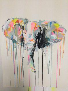 Ben Daffy - Tusks [2014] 60x80 cm Acrylic, Enamel & Ink on paper. POA http://bendaffy.bigcartel.com