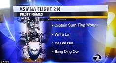 Asiana Airlines Flight 214 Captain Sum Ting Wong.