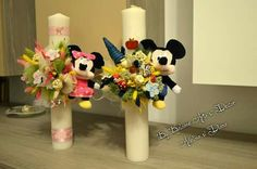 Mickey si Minnie Decorative Candles, Baptisms, Candles