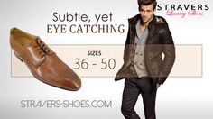 #Dress #shoes for #men with subtle #broque in #large #shoe #sizes #47 #48 #49 #50. You can find them here: https://stravers.shoes