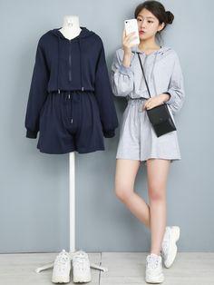 Marshe.com Korean Girl Fashion, Korean Street Fashion, Ulzzang Fashion, Korea Fashion, Cute Fashion, Asian Fashion, Kpop Fashion Outfits, Girls Fashion Clothes, Korean Outfits