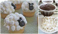 shaun het schaap traktatie met marshmallows en cupcake