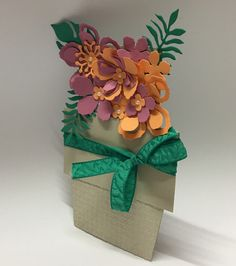Stampin Up NEW In Colours Pot of flowers - YouTube Created by Wendy at Perfectly Gorgeous Papercraft