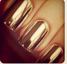 Metal gold nails: Into 'em.