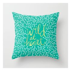 Wild At Heart – Turquoise Throw Pillow ($20) ❤ liked on Polyvore featuring home, home decor, throw pillows, turquoise accent pillows, turquoise toss pillows, heart home decor, cat home decor and cat throw pillow