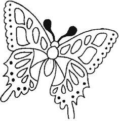 Dibujos para colorear de Mariposas, Lepidópteros, Plantillas para ...