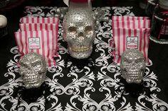 silver Halloween skulls