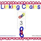 Practice counting, number recognition and one-to-one correspondence using linking chain math manipulatives.  Students identy the number on the card...