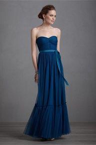 majolica blue sweetheart dress