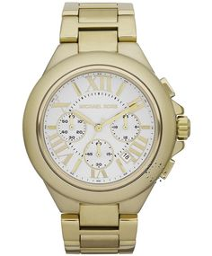 MICHAEL KORS Chronograph Gold Stainless Steel Bracelet  Τιμή: 281€  http://www.oroloi.gr/product_info.php?products_id=32645