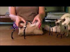 ▶ Needle Felting Tutorial - Sarafina Fiber Art Goat Series: 2 Wrapping - YouTube