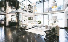 Dark wood floors in Tom Cruise's London Penthouse // Interior Designer Paul Davies