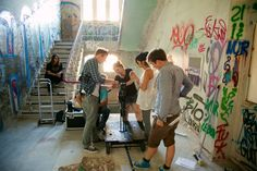 Dreharbeiten im Anscharpark Kiel, Juli 2014 Foto: Frank Schmerschneider Movie, Kiel, Projects