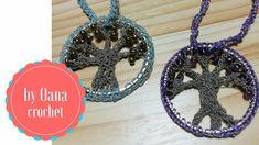 Tree of life crochet pendant by Oana