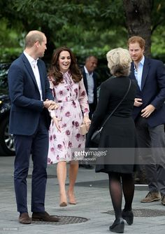 Prince William, Duke of Cambridge, Catherine, Duchess of Cambridge and Prince Harry attend the World Mental Health Day celebration with Heads Together at the London Eye on October 10, 2016 in London, England.
